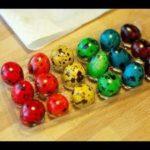 Как покрасить перепелиные яйца на Пасху
